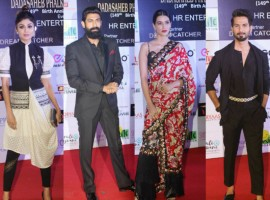 Dadasaheb Phalke Excellence Award 2018 event took place in Mumbai on April 21, 2018. From Left to right Shilpa Shetty, Rana Daggubati, Kriti Sanon and Shahid Kapoor graced the red-carpet and won big at the show. Check out the above slideshow to see the photos of celebs like Karan Johar, Aahana Kumra, Aditi Rao Hydari, Ashwini Iyer Tiwari, Rajkummar Rao, Kartik Aaryan, Tusshar Kapoor, Aahana Kumra, Sumona Chakravarti and others graced their presence at the award function.