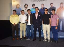 The teaser of the highly awaited film 'Sanju' has finally been unveiled today at a venue in the suburbs of western Mumbai. Ranbir Kapoor, Director Rajkumar Hirani, Producer Vidhu Vinod Chopra, Fox Star Studios CEO Vijay Singh, Bhushan Kumar and writer Abhijat Joshi were present at the teaser launch. The teaser of the Sanju showcases Ranbir Kapoor seamlessly slip into the skin of his character. Also, the teaser makes you pleasantly surprised as there is a very strong resemblance between Ranbir Kapoor and Sanjay Dutt which is hard to ignore.