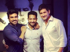 Bharat Ane Nenu star Mahesh Babu bonds with Ram Charan and Jr. NTR and the internet is going crazy. Bharat Ane Nenu features Mahesh Babu playing the Chief Minister of Andhra Pradesh. Bharat Ane Nenu showcases the journey of a young graduate taking on the state to fight for the rights of his people. The film has released on the big screen with a roaring response from Mahesh Babu fans.