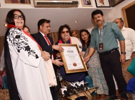 Celebrated music director Bappi Lahiri was feted by London's World Book of Records for his contribution to global music with his immortal song