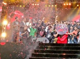 Tamil movie Kaala audio launch event held at YMCA grounds, Nandanam in Chennai on 9th May. Celebs like Rajinikanth, Dhanush, director Pa Ranjith, music director Santhosh Narayanan, Aishwarya Rajinikanth, Soundarya Rajinikanth, Eshwari Rao, Riythvika, Murali, Uma Devi, Anchor Dhivyadharshini (DD), Mani Kandan, Sakshi Agarwal, Meena, Nainika and others graced the event. The gangster film has been written and directed by Pa. Ranjith and bankrolled by Dhanush. Starring Superstar Rajinikanth in the lead role. The trilingual movie also features Nana Patekar, Huma Qureshi, actor-director Samudrakani and Eswari Rao among others.