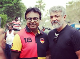 Viswasam music director D Imman meets Thala Ajith at the movie's shooting spot. The team is currently shooting song sequences for the film at Ramoji film city in Hyderabad. Imman took social media and shared a picture on Twitter with the caption,