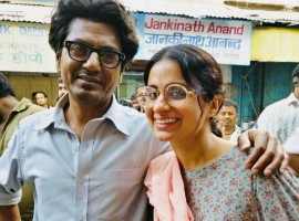 Rasika Dugal and Nawazuddin Siddique along with their director, Nandita Das took off to Cannes Rivera last night where their world premiere of their awaited biopic, Manto is set to take place. The film is officially to be screened as a part of the Uncertain Regard category at the prestigious Cannes Film Festival this evening. Here's a look at one behind the scene shots of the leading pair from the film in their look as Sadat Hasan Manto and Safia Manto.