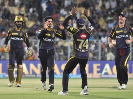 Kolkata Knight Riders (KKR) sharpened their chances of a playoff berth with a convincing six-wicket win over Rajasthan Royals (RR) in a crucial Indian Premier League (IPL) clash at the Eden Gardens here on Tuesday. Chinaman Kuldeep Yadav (4/20) starred for the two-time champions as Royals were bowled out for 142 in 19 overs despite an early blitz from the visiting team openers. Chasing a modest target, KKR rode Chris Lynn's 45 (42b; 5x4, 1x6) and captain Dinesh Karthik's unbeaten 41 (31b, 4x5, 1x6) to ease past the line by posting 145/4 with two overs to spare. The men in purple, thus, stretched their winning run to two games while Royals lost for the first time in four matches.