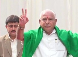 BJP's legislature party leader B.S. Yeddyurappa was sworn-in as the Karnataka Chief Minister here on Thursday hours after the Supreme Court gave the go-ahead in a pre-dawn hearing. Governor Vajubhai Vala administered the oath of office to Yeddyurappa at 9 a.m. in the 'Glass House' of Raj Bhavan amid tight security. Yeddyurappa, 75, took the oath in Kannada in the presence central and state leaders of the Bharatiya Janata Party and newly-elected legislators and senior officials.