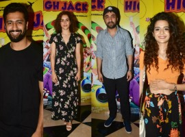 Phantom Films High Jack which released today witness a bucket full of stars at the special screening held last evening. The makers held a screening of High Jack for close friends and family members in the city. Present at the screening were Sumeet Vyas along with his parents, Sonnalli Seygall, Mantra, director Vikramaditya Motwane, Poonam Dhillon, Vicky Kaushal, Sanya Malhotra, Mithila Palkar, Sai Tamhankar, Gulshan Devaiah, Nimrat Kaur, Siddhanth Kapoor, Shweta Tripathi, Kriti Kharbanda, Karan Tacker, Shikha Talsania, Priyanshu Painyuli to name a few. With High Jack, Phantom Films is all set to bring to the audience Bollywood's first ever stoner comedy. High Jack marks the entry of Viu, the leading international OTT Video Service, into films. The film stars an ensemble cast featuring Sumeet Vyas, Sonnalli Sehgal, Mantra, Sarthak Kakar, Kumud Mishra, Radhika Bangia, Priyanshu Painyuli and Adhaar Khurana.  Produced by Phantom films in association with Viu, High Jack directed by Akarsh Khurana has released today ie.18th May, 2018