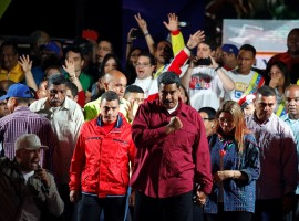 Venezuela's President Nicolas Maduro has won the election, claiming a second six-year term, in a vote marred by an opposition boycott and alleged foul play, media reported on Monday. With more than 90 per cent of the votes counted on Sunday, 55-year-old Maduro had 67.7 per cent, 5.8 million votes, the BBC reported quoting National Electoral Council chief Tibisay Lucena as saying. The main opposition candidate, Henri Falcon won 21.2 per cent, 1.8 million votes, she said. Falcon rejected the result soon after the polls closed, saying,
