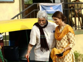 Megastar Amitabh Bachchan and his daughter Shweta Bachchan-Nanda took an auto-rickshaw ride to go for work.