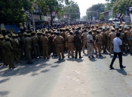 Nine people, including a girl, died on Tuesday in police firing after the ongoing anti-Sterlite protests turned violent with hundreds of people from nearby areas allegedly attacking the District Collectorate demanding closure of the Vedanta Group-run company. In the first major incident of police firing in Tamil Nadu on protesters and resultant deaths, they first fired teargas shells and carried out baton charges to bring the protesters under control but passions were high. Police then resorted to firing as hundreds of people gathered in defiance of prohibitory orders on the 100th day of their agitation ever since the company announced the expansion plans of the four lakh tonne per annum Sterlite Copper project and attacked the Collectorate. The area around the Collectorate resembled a battle-zone with the protesters setting vehicles afire and attacking policemen with stones. Plumes of black smoke emanated from the protest site. Police retaliated in a bid to bring the situation under control. Among those who died were identified as Antony Selvaraj, Kandiah, Gladson, Jayaram, Maniraj, Tamilarasan, Shanmugham and Venista. At least 60 people, including policemen, were injured in the clashes. Many of them were admitted to hospitals for treatment.