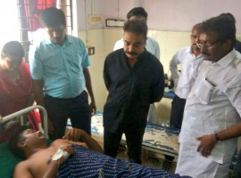 Actor-turned-politician Kamal Haasan on Wednesday met people injured in police firing on protestors marching against the Sterlite Copper Smelting plant here and demanded to know who ordered the firing.