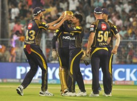 Skipper Dinesh Karthik (52) led from the front as Andre Russell (49 not out), Piyush Chawla (2/24) and Kuldeep Yadav (1/18) starred with bat and ball to help Kolkata Knight Riders (KKR) see off Rajasthan Royals (RR) by 25 runs and reach Qualifier 2 of the Indian Premier League (IPL) here on Wednesday. KKR will now meet Sunrisers Hyderabad (SRH) here on Friday to decide who faces Chennai Super Kings (CSK) in the final on Sunday. Despite early hiccups, KKR posted 169/7 in 20 overs riding Russell's big hitting late on after Karthik had set the tone for the two-time champions at the Eden Gardens here.  In reply, Royals could manage 144/4 even after Sanju Samson's belligerent 38-ball 50, containing four fours and two sixes and captain Ajinkya Rahane (46; 41b 4x4 1x6) kept their team in the hunt with a 62-run partnership off 54 balls for the second wicket. With 74 needed from 48 balls, chinaman Kuldeep got rid of Rahane in the 15th over with Chawla then sending Samson back after he brought up his half century in 37 balls. With the required run rate climbing up and set batsmen out, Royals, who have a thin middle order, could never recover.