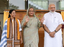 PM Narendra Modi and PM of Bangladesh, Ms. Sheikh Hasina jointly inaugurated the Bangladesh Bhavan at Santi Niketan in West Bengal.