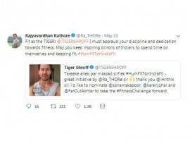 The Union Minister of Youth Affairs and Sport, Rajyavardhan Singh Rathore, recently took to Twitter to applaud Tiger Shroff's discipline and dedication towards fitness. The professional shooter turned politician showed his gratification towards the