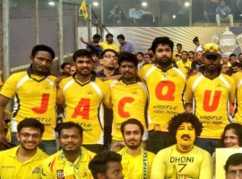 The official fan club of Chennai Super Kings, Whistle Podu did not only express their love for cricket team, but also rose in cheer for Bollywood actress Jacqueline Fernandez. IPL 2018 finale which saw Jacqueline Fernandez' grooving to two sensational songs garnered immense hooting and cheering from the audience.  What grabs our attention is that, Jacqueline's fanbase is not just limited to moviegoers but also cricket fanatics. The champions of IPL 2018, Chennai Super Kings' official fanclub, Whistle Podu Army were in awe of Jacqueline Fernandez and expressed their love for the actress with a unique gesture. The members of this fanclub went ahead wearing T-shirts dedicated to Jacqueline, in addition to holding placards. Sharing the picture, Whistle Podu Army took to Twitter captioning,