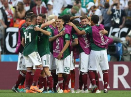 Mexico created the first upset of the 2018 FIFA World Cup, overcoming defending champions Germany 1-0 in a frenetic Group F game at the Luzhniki Stadium here on Sunday. Forward Hirving Lozano's 35th-minute goal proved to make the difference in a match played at a very high tempo as four-time champions Germany began their title defence on a disastrous note. The game opened up at a breathtaking pace, with both Germany and Mexico playing an open game, going on an all-out attack. German striker Timo Werner had the first chance of the match but his drive from a tight angle from the right went wide of the left post. Ranked 14 places below than the world No.1 Germany, Mexico took the European powerhouse head on, playing a quick counter-attacking game. Germany captain and goalkeeper Manuel Neuer was called into action to block a long-range effort from midfielder Hector Herrera in the ninth minute and five minutes later, forced to keep away a header from Mexican centre-back Hector Moreno off a corner in the 14th minute.