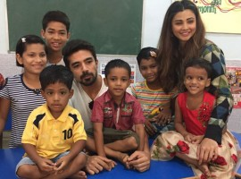 Race 3 team continues the special initiative adopted by the star cast post the release of the film as Daisy Shah and Saqib Saleem visit two NGOs on Tuesday. The star cast of the action thriller spared time from their promotions to visit various NGOs in order to dedicate their time in the service of the needy across the nation. Before the release of the film, Anil Kapoor, Bobby Deol, Jacqueline Fernandez, Daisy Shah and Saqib Saleem travelled across the nation for the noble cause, post the release Daisy and Saqib paid visits to NGOs to spend quality time with the needy. Post the success of Race 3 the team headed to different NGO to celebrate and share their success. Daisy Shah and Saqib Saleem visited 2 different NGOs today and celebrated the success with them just like the whole team did before the release of the film.