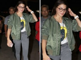 After an electrifying performance at Miss India 2018 finale, Jacqueline Fernandez immediately leaves for Dabangg tour concert. Jacqueline who is currently basking on the success of her latest release Race 3 has no time to celebrate as the actress leaves for Dabangg tour with Salman Khan and others. Soon after her performance at Miss India finale, Jacqueline left for the airport. The actress was seen donning an Olive green jacket with a high waist denim paired with White boots. She summed up the entire look by wearing a white coloured watch and spectacles. The actress will be travelling to different countries, London being the first stop. Jacqueline will be seen performing on various chartbuster along with Superstar Salman Khan.