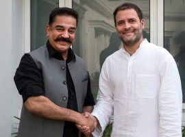Actor Kamal Haasan, who has floated a new political party Makkal Needhi Maiam, on Wednesday met Congress President Rahul Gandhi and discussed the political situation in Tamil Nadu.