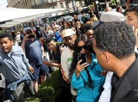 After being robbed at gunpoint in a city hotel year-and-a-half ago, American reality television personality Kim Kardashian was back in Paris, along with rapper husband Kanye West on Thursday. According to E! Online, the 'Keeping Up With the Kardashians' star attended the Louis Vuitton Menswear spring/summer 2019 Paris Fashion Week show. She was spotted with sister Kylie Jenner and her boyfriend Travis Scotton, other than her husband. Earlier in 2017, Kim in her reality show had said that she might return to Paris