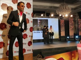 Veteran actor Jackie Shroff has always impressed everyone with his vogue and the actor has last night received an award for the same. There's no denying the fact that Jackie Shroff is effortlessly cool with his style and has set a benchmark with it and the actor won the style icon award last night for it. Jackie looked dapper in a white shirt, black suit and his signature scarf. A pair of formal shiny shoe with black glairs completed his stylish look. Jackie is known to be one of the warmest and welcoming Entertainment personalities, he is looked upon by his peers and gen next. An actor who actively has contributed to diverse audience segments and cinema.