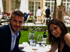American sensation David Beckham and his wife Victoria Beckham celebrated their 19th wedding anniversary with their children and family. The stars were invited to take part in their youngest child's sports day, where David competed against other dads in a bean bag race. Taking to his Instagram account, David posted a photo of Victoria and him having a lunch. He wrote,