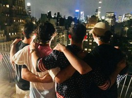 Actress Priyanka Chopra joined pop singer and rumoured beau Nick Jonas and his family members for an outing to celebrate July 4, the US Independence Day. Nick and Priyanka were joined by the former's brother Joe and his fiance for a bicycle ride. Later on Wednesday, Priyanka joined the family at their private terrace to watch the fireworks. Nick posted a picture with his elder brothers, and captioned it: