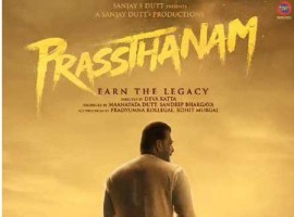 Bollywood star Sanjay Dutt has unveiled the first motion poster of his upcoming Telugu remake 'Prassthanam' and his rustic look is sure to turn heads. In the poster, Sanjay wears a white 'dhoti-kurta' and is walking in a farm against the background of a dimly-lit sky. The tagline of the film is 'Earn The Legacy'. Dutt took to Twitter to unveil the poster as he wrote,