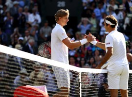 South Africa's Kevin Anderson pulled off a stunning come-from-behind 2-6, 6-7 (5-7), 7-5, 6-4, 13-11 upset victory over Swiss defending champion Roger Federer here on Wednesday to reach the semi-finals of the Wimbledon tennis championships for the first time. Anderson pulled off the upset thanks to 28 aces and clutch play on break points throughout the match. He also appeared to benefit from the lack of a tiebreaker in the fifth set, as the 36-year-old Swiss wore down over the course of the four-hour-plus contest, reports Efe. The match had all the makings of a routine Federer victory after the first set, which the Swiss great won with two service breaks and the loss of just one point on his serve. But Anderson worked his way into the match in the second set, which he narrowly lost in a tiebreaker after the two players had traded service breaks.