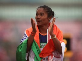 India's Hima Das created history by winning the gold medal in the women's 400 metre event at the IAAF World U20 Championships here on Thursday. Hima registered a time of 51.46 seconds in the final at the Ratina Stadium to become the first Indian athlete to win gold in a world championship across all age groups. Andrea Miklos of Romania took silver with a personal best time of 52.07 seconds. Taylor Manson of the US registered 52.28 seconds to finish third. Hima had done well in the earlier rounds as well, winning Heat 4 with a time of 52.25 seconds. She emerged on top in the semi-finals as well, winning her race in 52.10 seconds.