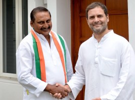Former Andhra Pradesh Chief Minister N. Kiran Kumar Reddy rejoined Congress after meeting party chief Rahul Gandhi here on Friday. Addressing the media post the same, Reddy said