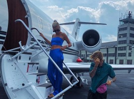 Singer Justin Bieber and fiance Hailey Baldwin took helicopter to meet up with her family just a few miles away. Bieber and Baldwin loaded into their very own private helicopter on Wednesday for the 70-mile trek to upstate New York to reach New Windsor, a town with a population of about 25,000, where Baldwin's father Stephen and family stay. According to tmz.com, Bieber approached Stephen a few weeks back to ask for her daughter's hand in marriage before he got down on one knee in the Bahamas and popped the question.