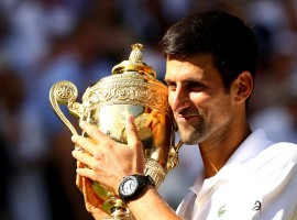 Serbian Tennis ace Novak Djokovic on Sunday defeated South Africa's Kevin Anderson 6-2 6-2 7-6 (7-3) to clinch his fourth Wimbledon title here. This is Djokovic's first Grand Slam victory in more than two years. Anderson saw a nervous start, striking a forehand long at 30/30 and then double faulting at break point to gift Djokovic the first game. Djokovic won 12 of the first 15 points to seize early control of the final. Although Anderson looked more competitive in the game, Djokovic kept the upper hand in longer rallies and kept his opponent on the backfoot with changes in groundstroke pace.