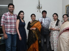 Bollywood actress Vidya Balan with Lokeswari Garu, Nandamuri Balakrishna, Vasundhara Devi, Tejaswini & Sri Bharat during the former's visit with the NTR Family. NT Rama Rao the man on whom the film is based was an Indian actor, producer, director, editor and politician who served seven years as the Chief Minister of Andhra Pradesh. Fondly, he is referred to as NTR. He received three National Film Awards for co-producing 'Thodu Dongalu' (1954) and 'Seetharama Kalyanam' (1960) and directing 'Varakatnam' (1970). NTR has also received the erstwhile Rashtrapati Awards for his performance(s) in films like 'Raju Peda' (1954) and 'Lava Kusa' (1963).