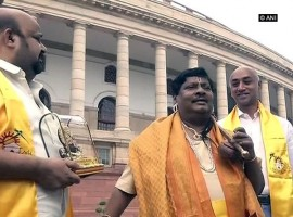 MP Naramalli Sivaprasad dresses up as Annamayya