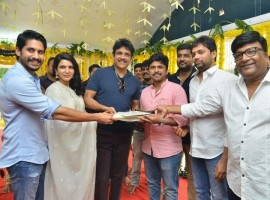Naga Chaitanya, Samantha and Shiva Nirvana's movie launched by Nagarjuna