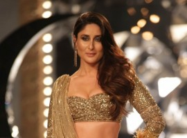 Kareena Kapoor Khan walks the ramp in 30 Kg Gold Lehenga