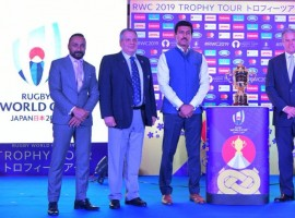 Rathore launches Rugby World Cup 2019 trophy tour