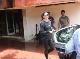 Kareena Kapoor Khan was snapped outside a gym in Mumbai