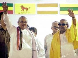 Atal Bihari Vajpayee with Karunanudhi