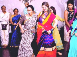 Rambha dances during her baby shower
