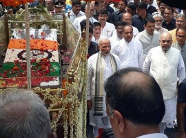 Narendra Modi, Amit Shah at Atal Bihari Vajpayee's final journey