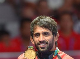 Wrestler Bajrang Punia brings India first Asian Games gold