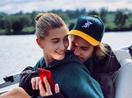 Hailey Baldwin flaunts engagement ring with Justin Bieber