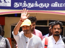 Dhanush at Thoothukudi airport