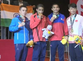 Amit Panghal bags gold in men's boxing