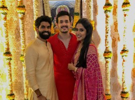 Akhil Akkineni with Karthikeya and Pooja Prasad