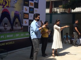 Jackky Bhagnani and Kritika Kamra groove with ASM college students in Pune