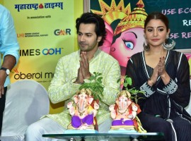 Varun Dhawan and Anushka Sharma launch Green Ganesha