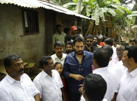 Actor Rahman's relief work at Aluva