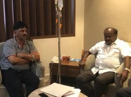 Kumaraswamy meets DK Shivakumar